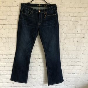 7 For All Mankind Blue Denim Mid Rise Bootcut 31